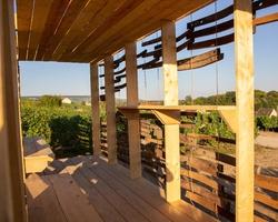 Construction de loges dans le cadre des universités d'été Architecture et Champagne 2018